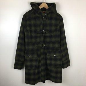 Steve Madden Green Plaid Coat Jacket